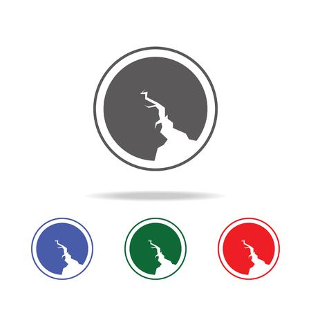 Earthquake Icon vector illustration set