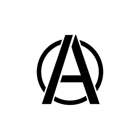 A sign of anarchy icon. Element of communism illustration. Premium quality graphic design icon. Signs and symbols collection icon for websites, web design, mobile app