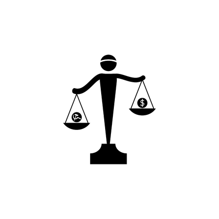 Scales of communism and capitalism icon. Premium quality graphic design icon. Signs and symbols collection icon for websites, web design