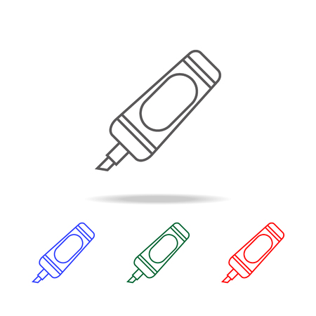 Marker icon. Elements of education multi colored icons. Premium quality graphic design icon. Simple icon for websites, web design, mobile app, info graphics on white background Illustration