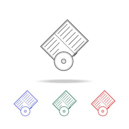 Elements of education multi colored icons. Premium quality graphic design icon.