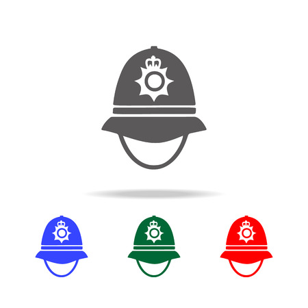 Police cap in England icon illustration
