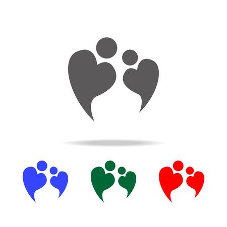 A vector logo icon of two people in love forming heart symbol icon. Illusztráció