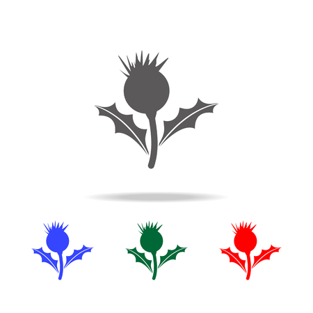 Thistle flower icon. Elements of United Kingdom multi colored icons. Premium quality graphic design icon. Simple icon for websites, web design, mobile app, info graphics on white background