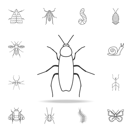 cockroach icon. Detailed set of insects line illustrations. Premium quality graphic design icon. One of the collection icons for websites, web design, mobile app on white background