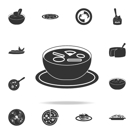 Italian soup icon. Detailed set of Italian foods illustrations on white background. Stock Vector - 99195811