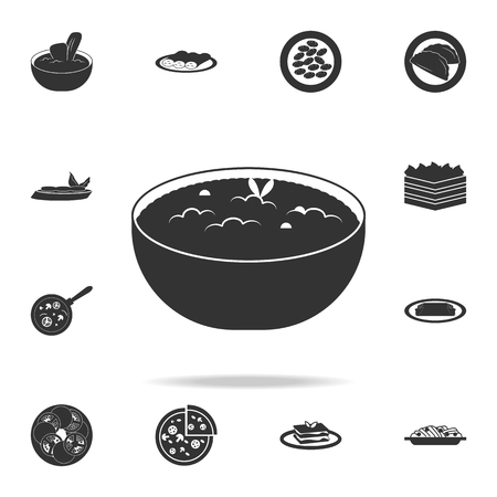 risotto icon. Detailed set of Italian foods illustrations on white background.