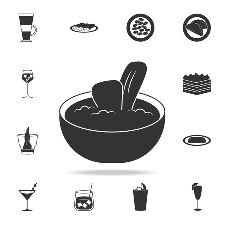 kachukko icon. Detailed set of italian foods illustrations. Premium quality graphic design icon. One of the collection icons for websites web design mobile app on white background Illustration
