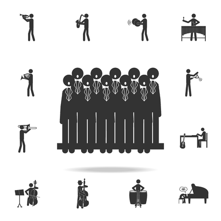 Choir singing icon. Detailed set of music icons. Premium quality graphic design. One of the collection icons for websites web design mobile app on white background