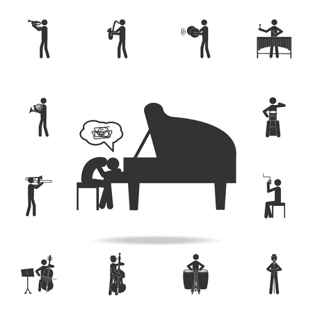 Musical creative crisis icon. Detailed set of music icons. Premium quality graphic design. One of the collection icons for websites web design mobile app on white background