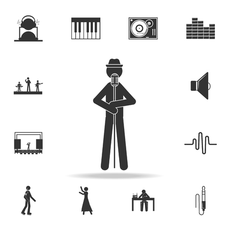 Jazz singer icon. Detailed set of music icons. Premium quality graphic design. One of the collection icons for websites web design mobile app on white background