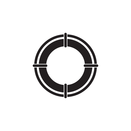 Lifebuoy icon. Element of ship illustration. Premium quality graphic design icon. Signs and symbols collection icon for websites, web design, mobile app on white background  イラスト・ベクター素材