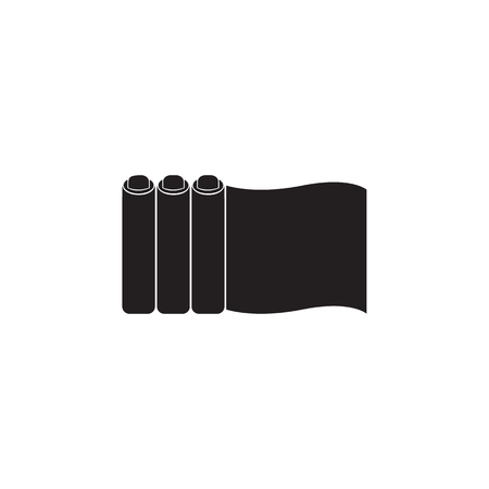 a roll of a paper for a press icon. Element of printing house illustration. Premium quality graphic design icon. Signs and symbols collection icon for websites, web design on white background