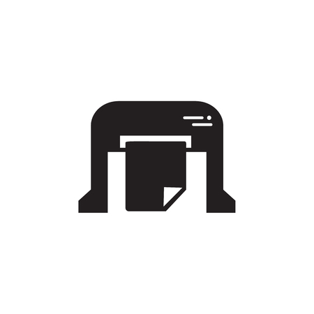machine for printing newspapers icon. Element of printing house illustration. Premium quality graphic design icon. Signs and symbols collection icon for websites, web design on white background