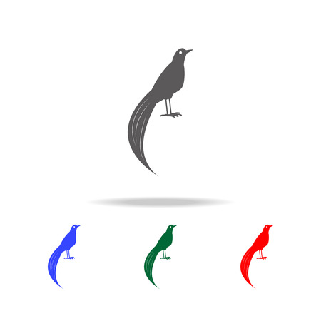 bird of paradise icon. Elements of Australian animals multi colored icons. Premium quality graphic design icon. Simple icon for websites web design mobile app, info graphics on white background Illustration