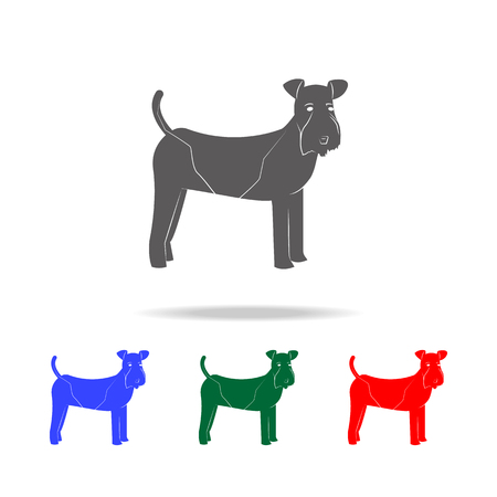 Fox Terrier dog icon. Elements of dogs multi colored icons. Premium quality graphic design icon. Simple icon for websites, web design mobile app, info graphics on white background