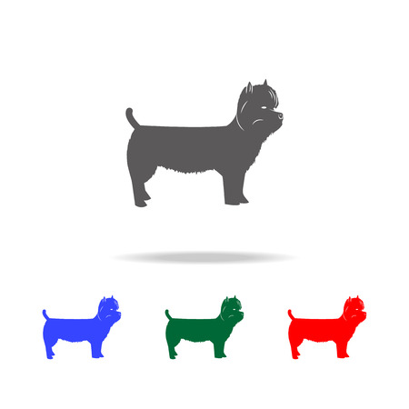 West Highland Terrier icon. Elements of dogs multi colored icons. Premium quality graphic design icon. Simple icon for websites, web design mobile app, info graphics on white background
