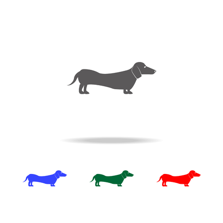Dachshund icon. Elements of dogs multi colored icons. Premium quality graphic design icon. Simple icon for websites, web design mobile app, info graphics on white background