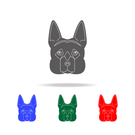 German shepherd face icon. Elements of dogs multi colored icons. Premium quality graphic design icon. Simple icon for websites, web design mobile app, info graphics on white background