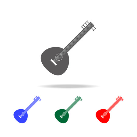 Sitar icon. Elements of Indian culture multi colored icons. Premium quality graphic design icon. Simple icon for websites, web design, mobile app, info graphics on white background