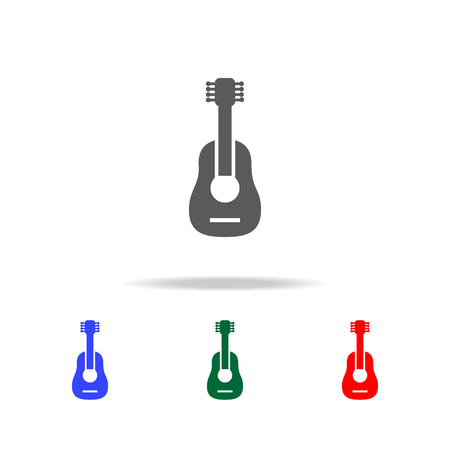 Guitarron icon. Elements of culture of Mexico multi colored icons. Premium quality graphic design icon. Simple icon for websites, web design, mobile app, info graphics on white background