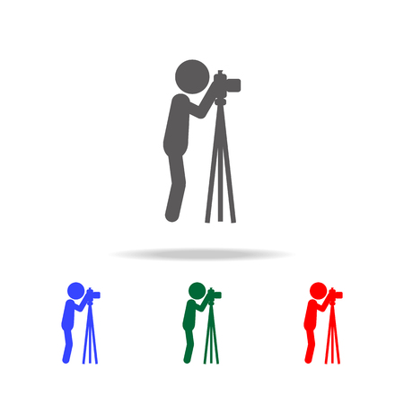 Photographer icon. Elements of people profession in multi colored icons. Premium quality graphic design icon. Simple icon for websites, web design, mobile app, info graphics on white background