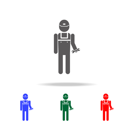 plumber icon. Elements of people profession in multi colored icons. Premium quality graphic design icon. Simple icon for websites, web design, mobile app, info graphics on white background