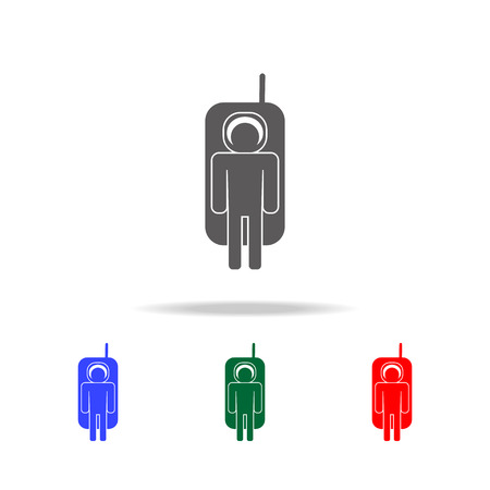 spaceman icon. Elements of people profession in multi colored icons. Premium quality graphic design icon. Simple icon for websites, web design, mobile app, info graphics on white background Illustration