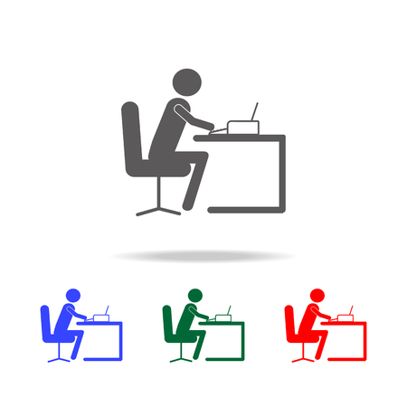 Secretary icon. Elements of people profession in multi colored icons. Premium quality graphic design icon. Simple icon for websites, web design, mobile app, info graphics on white background Ilustração