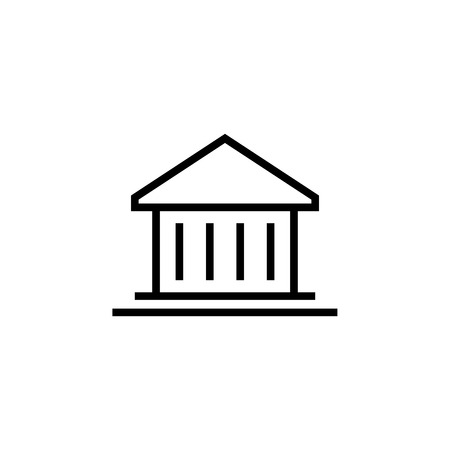 Banking, Building icon. Element of building icon. Thin line icon for website design and development, app development. Premium icon in paper cut style. Vector illustration
