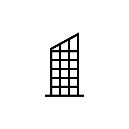 Skyscraper, Building icon. Element of building icon. Thin line icon for website design and development, app development. Premium icon in paper cut style. Vector illustration
