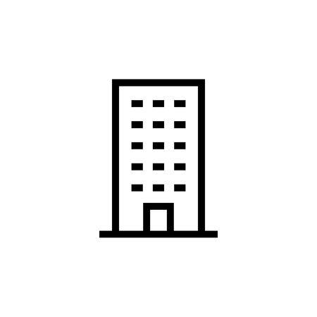 Building icon. Element of building icon. Thin line icon for website design and development, app development. Premium icon in paper cut style. Vector illustration Illustration