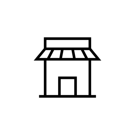 Building icon. Element of building icon. Thin line icon for website design and development, app development. Premium icon in paper cut style. Vector illustration  イラスト・ベクター素材