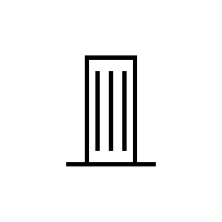 Skyscraper, Building icon. Element of building icon. Thin line icon for website design and development, app development. Premium icon  イラスト・ベクター素材
