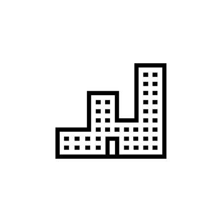 Building icon. Element of building icon. Thin line icon for website design and development, app development. Premium icon