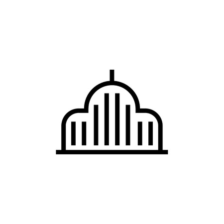 Mosque,Building icon. Element of building icon. Thin line icon for website design and development, app development. Premium icon