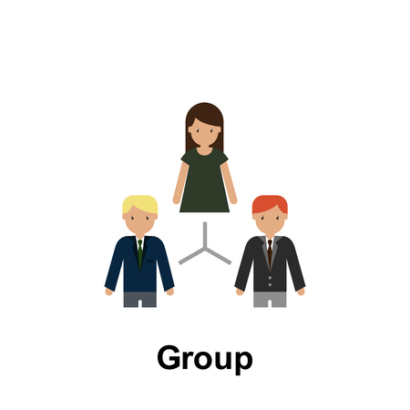 Group color icon. Element of business illustration. Premium quality graphic design icon. Signs and symbols collection icon for websites, web design, mobile app on white background 向量圖像