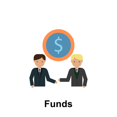 Funds color icon. Element of business illustration. Premium quality graphic design icon. Signs and symbols collection icon for websites, web design, mobile app on white background  イラスト・ベクター素材