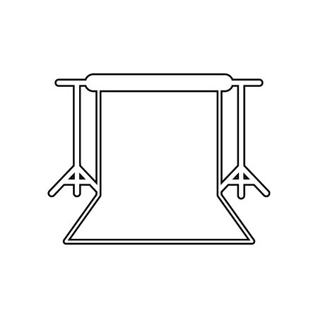 Background stand, Studio Backdrop icon. Element of Equipment photography for mobile concept and web apps icon. Outline, thin line icon for website design and development, app  on a white background