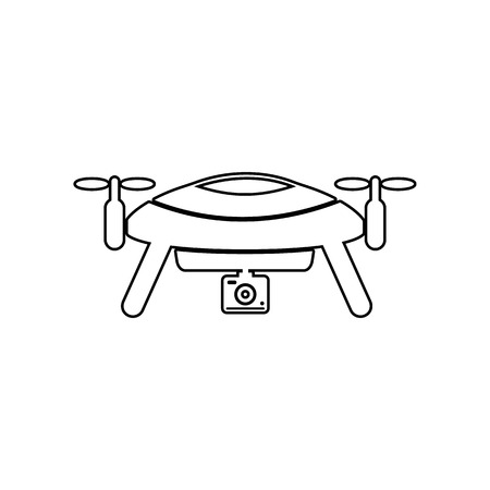 drone, aerial imaging icon. Element of Equipment photography for mobile concept and web apps icon. Outline, thin line icon for website design and development, app development on a white background