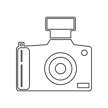 digital camera icon. Element of Equipment photography for mobile concept and web apps icon. Outline, thin line icon for website design and development, app development on a white background  イラスト・ベクター素材