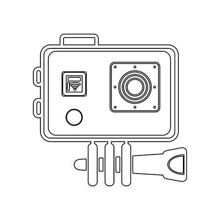 action camera icon. Element of Equipment photography for mobile concept and web apps icon. Outline, thin line icon for website design and development, app development on a white background Illustration