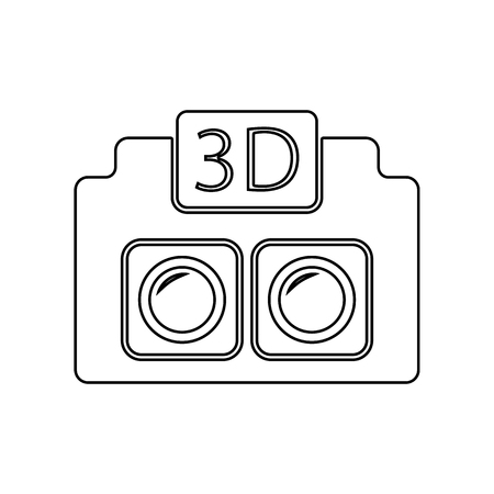 3D Camera icon. Element of Equipment photography for mobile concept and web apps icon. Outline, thin line icon for website design and development, app development on a white background