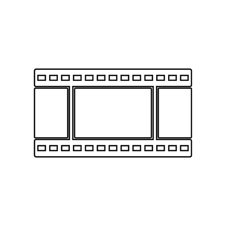 film icon. Element of Equipment photography for mobile concept and web apps icon. Outline, thin line icon for website design and development, app development on a white background  イラスト・ベクター素材