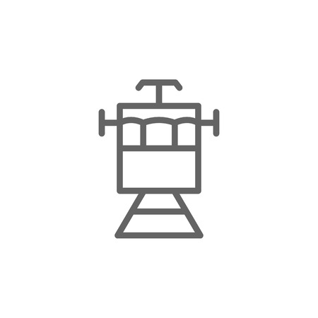 Portugal, tram icon. Element of Portugal icon. Thin line icon for website design and development, app development. Premium icon