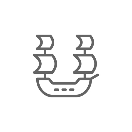 Portugal ship icon. Element of Portugal icon. Thin line icon for website design and development, app development. Premium icon