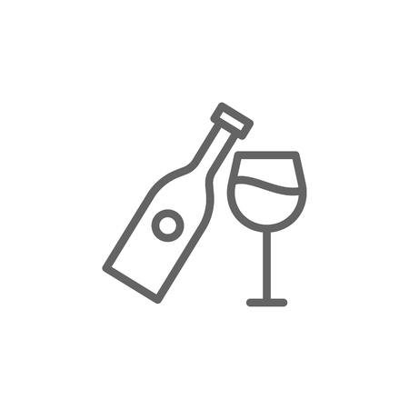 Wine, Portugal icon. Element of Portugal icon. Thin line icon for website design and development, app development. Premium icon  イラスト・ベクター素材