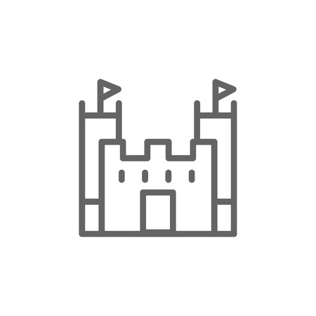 Portugal, castle icon. Element of Portugal icon. Thin line icon for website design and development, app development. Premium icon