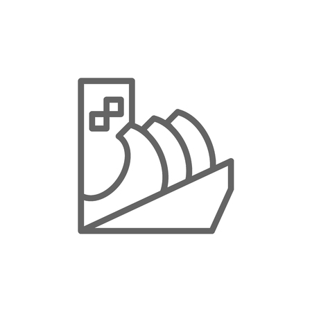 Building icon. Element of Portugal icon. Thin line icon for website design and development, app development. Premium icon  イラスト・ベクター素材