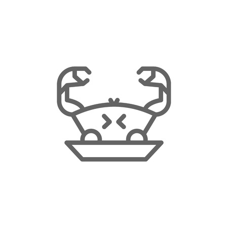 Portugal, food, crab icon. Element of Portugal icon. Thin line icon for website design and development, app development. Premium icon  イラスト・ベクター素材